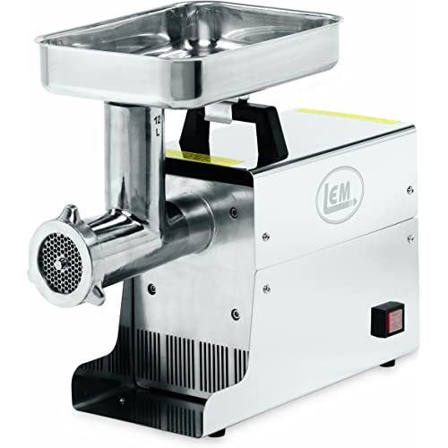 LEM Products .75 HP Stain Less Steel Electric Meat Grinder
