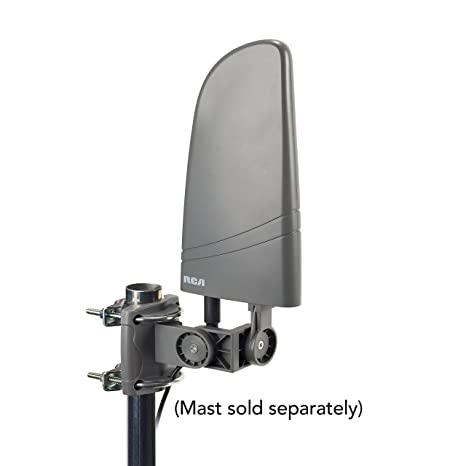 Amplified Antenna TV Digital HD - Small Outdoor HD TV Antenna VHF UHF Reception, Coaxial