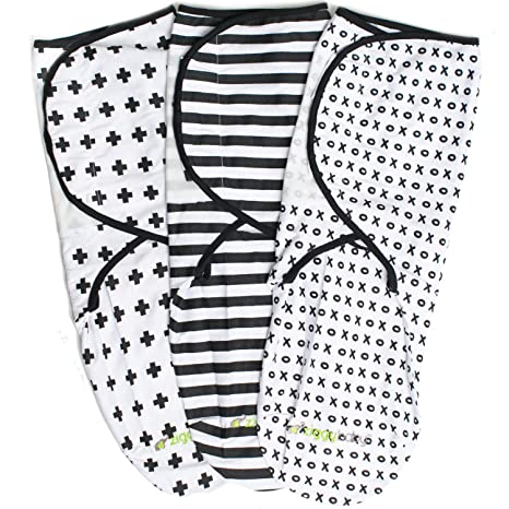 Ziggy Baby juego de 3 mantas para bebés, unisex, ajuste universal – set de
