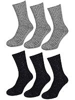 3 bis 18 Paar Woll Socken ohne Gummi - Herren Norweger Socken - Verstärkte Sohle