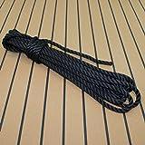 Tauwerk 20mm - Farbe: schwarz 3-litzig gedreht Leine Schnur Festmacher Rope Tau Seil Allzweckseil Reepschnur Lirolen-Tauwerk PP-Multifil, 3-schäftig gedreht (Länge 20mtr.)
