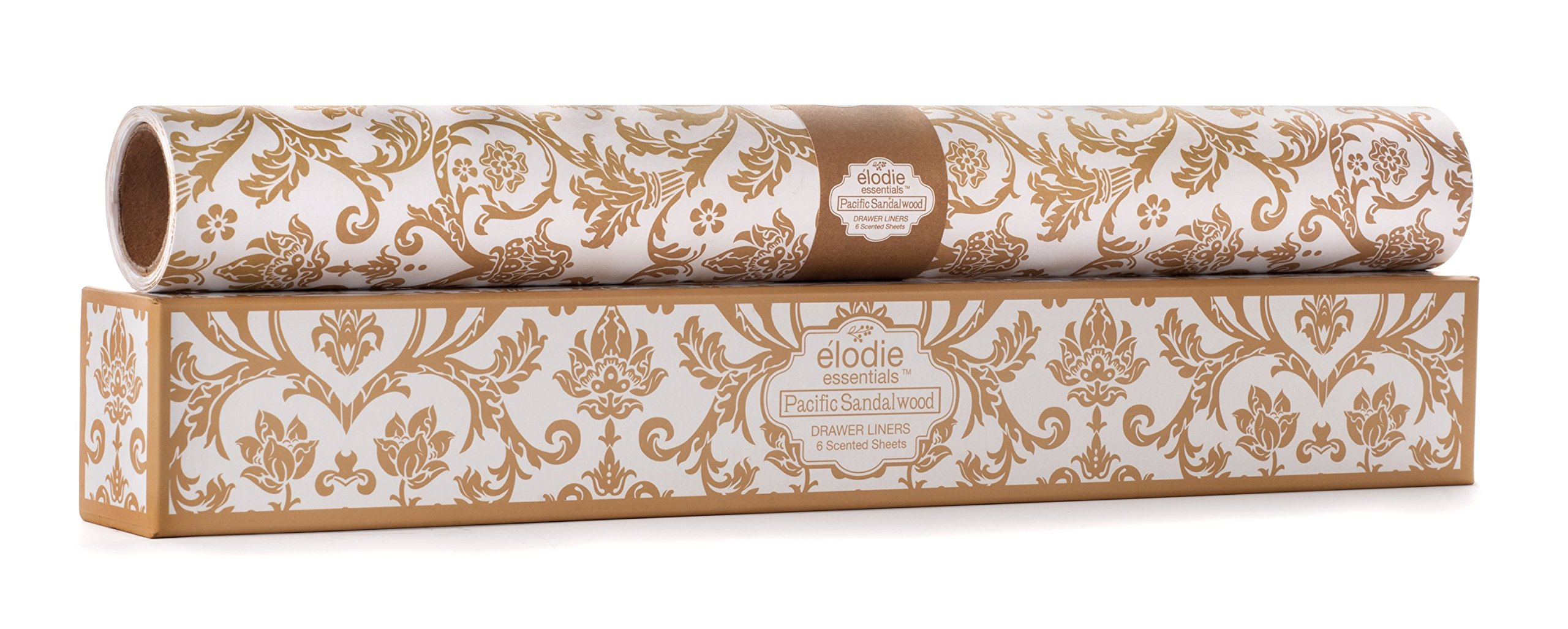 Pacific Sandalwood Scented Drawer Liners - Royal Damask