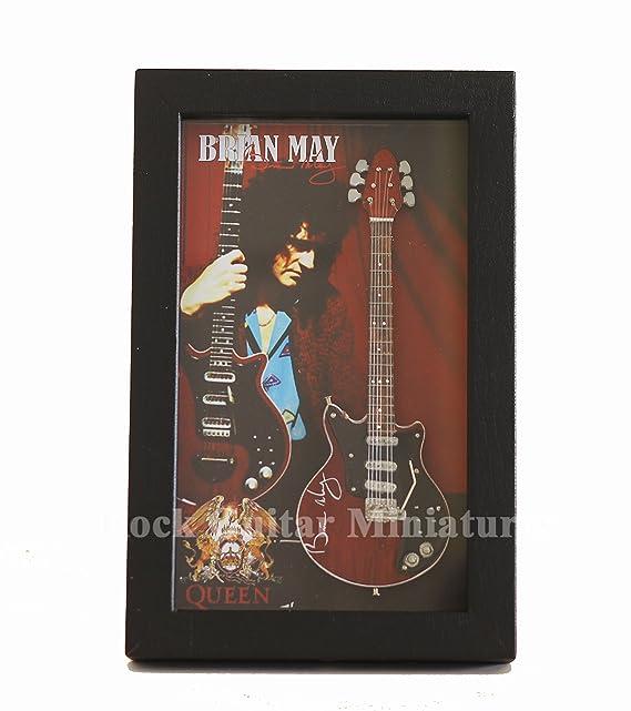 rgm8818 Brian May Queen Guitarra en miniatura recogida en el marco ...