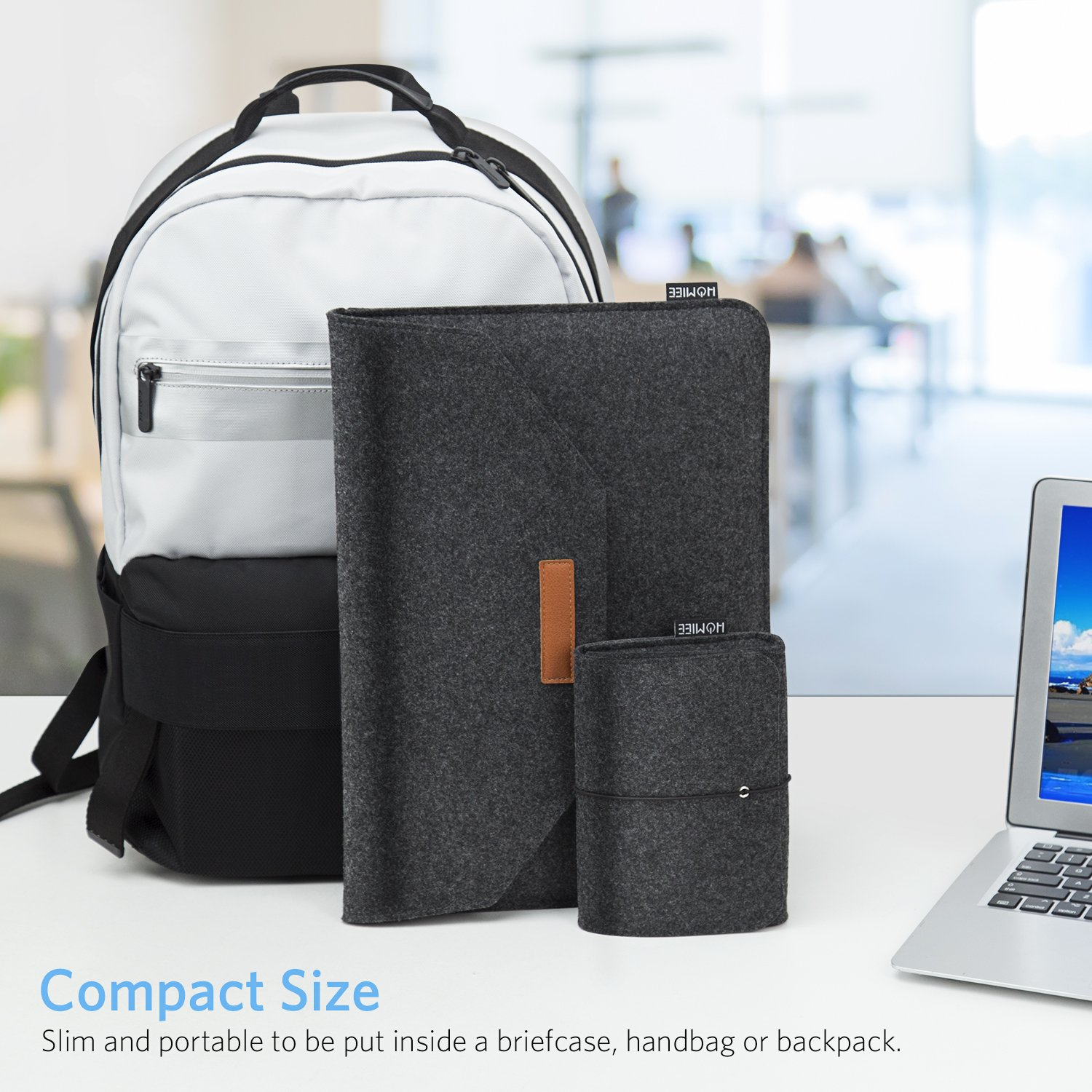 3fde5e6c7bfa HOMIEE 15-15.6 Inch Laptop Sleeve Portable MacBook Sleeve Case for 15 Inch  New MacBook larger image
