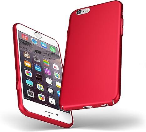 UltraSoft - Custodia rigida sottile rosso opaco per iPhone 7 (4.7