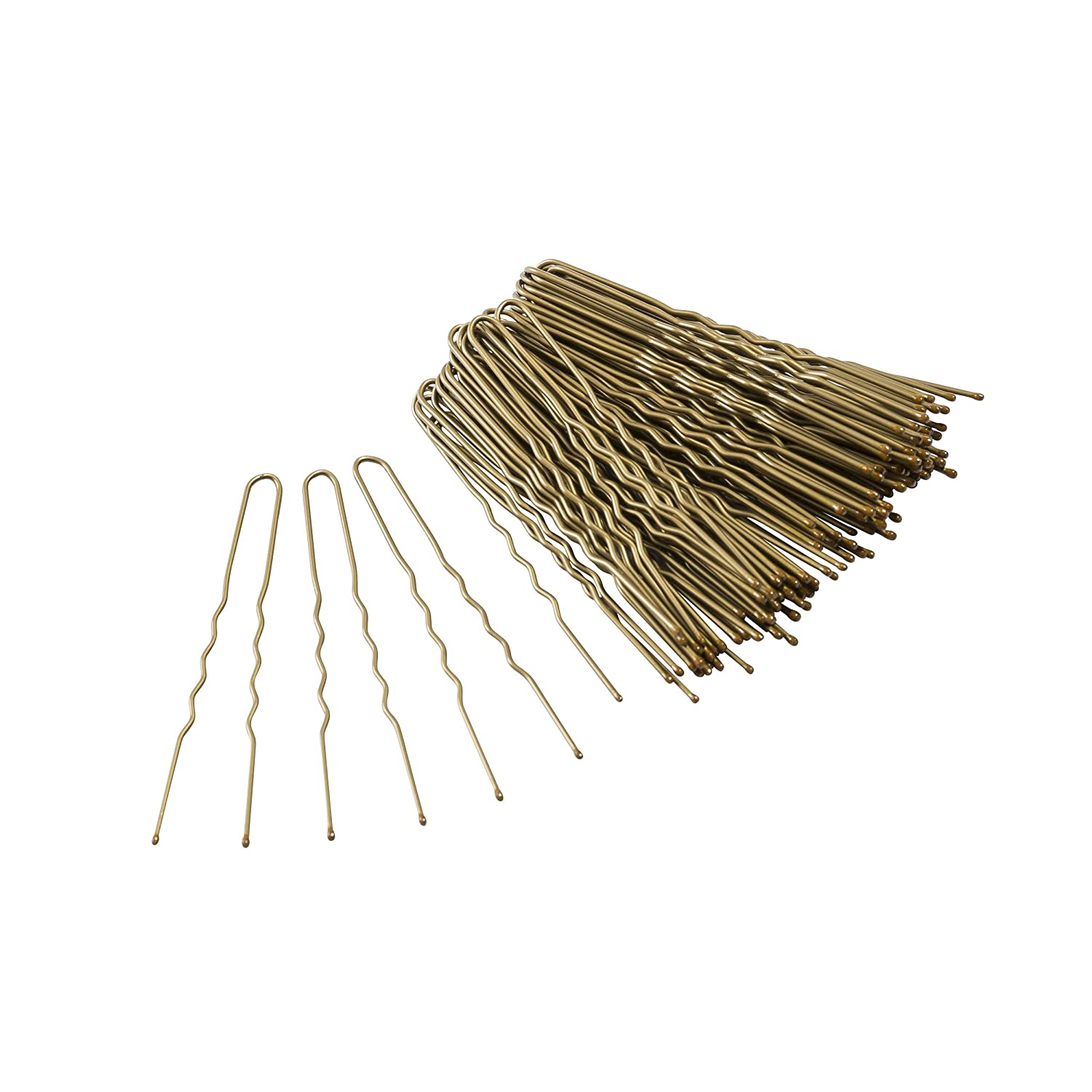 Glamour Style Hair Bun Pins, Pack of 70, Bronze