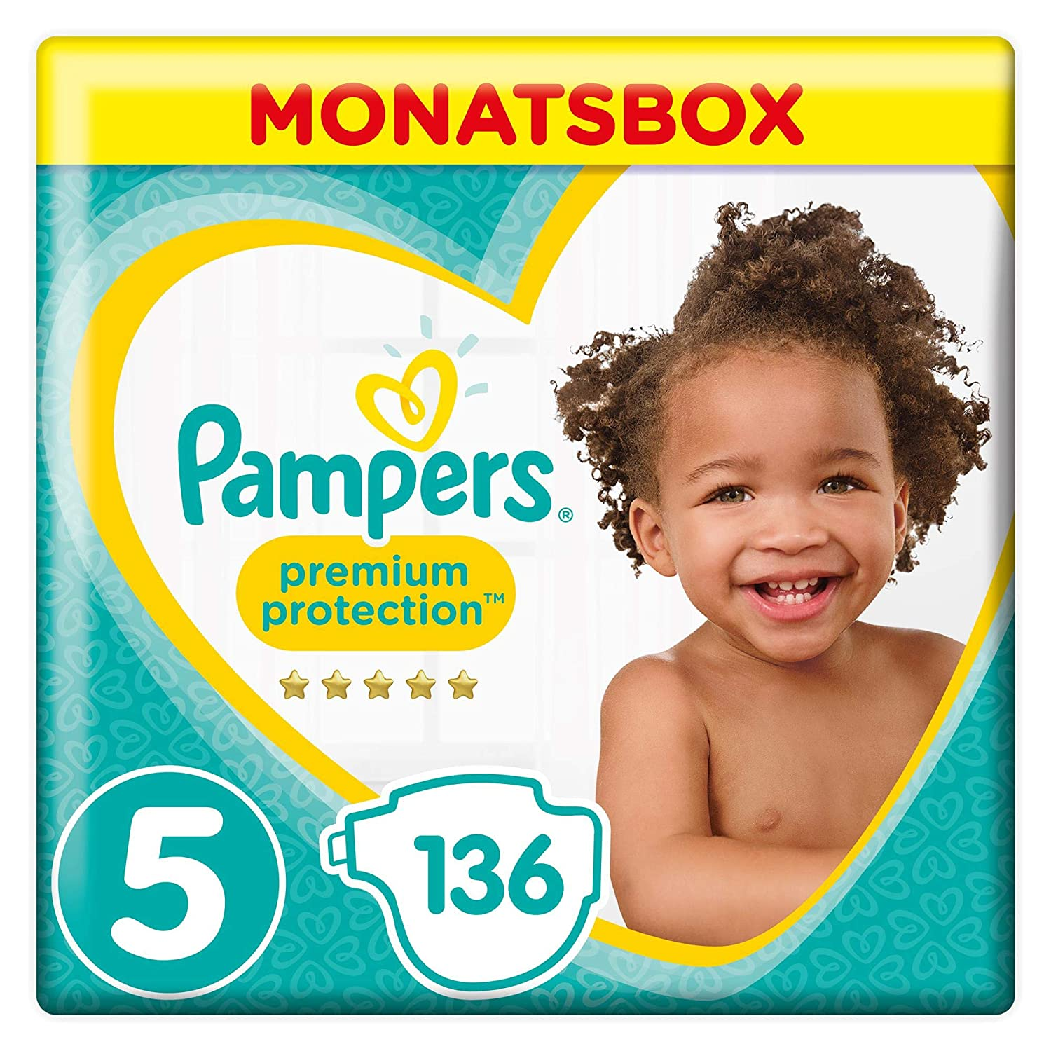 Pampers Premium Protection Monatsbox Vorteils-Set: Premium Protection Windeln Gr. 4 (9-14 kg), 1 x 168 Stück und Premium Protection Pants Gr. 4 (9-15 kg), 1 x 160 Stück 1 x 160 Stück