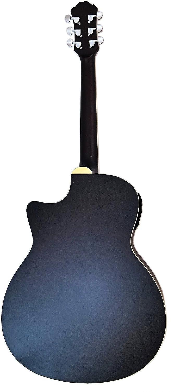 Martin Taylor - Guitarra eléctrica semiacústica, de caja hueca, de color solar mate satinado de estilo retro, púas Fender.