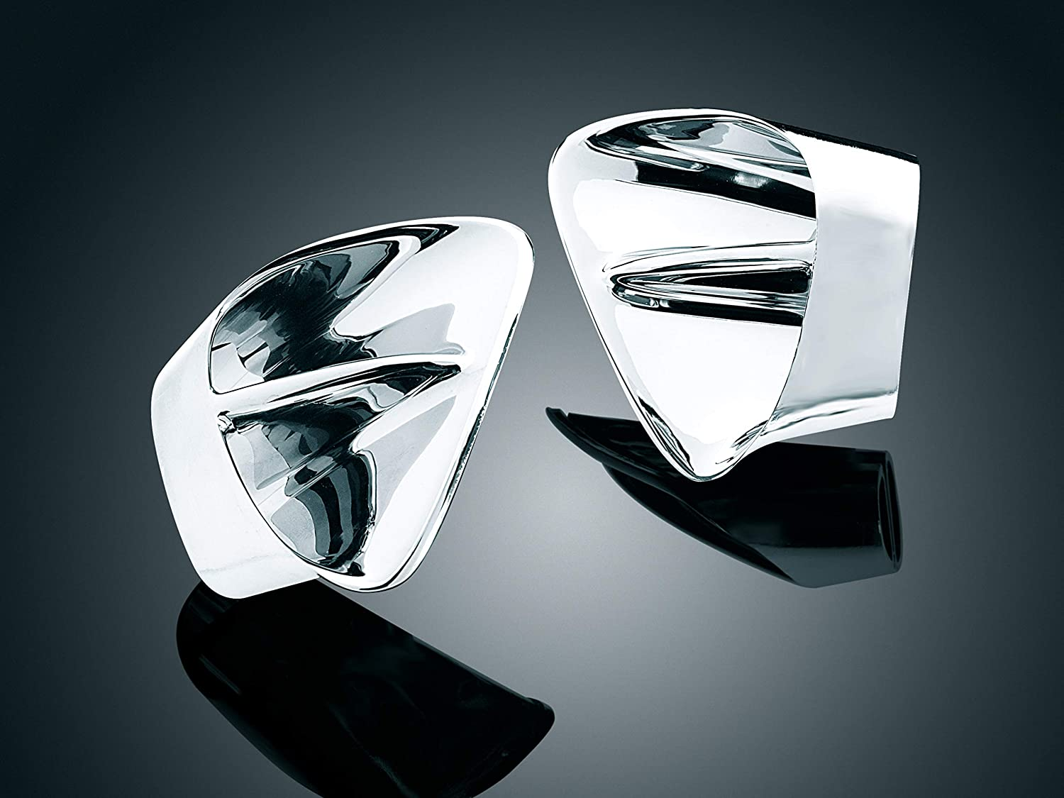1 Pair Fairing Intake Vent Inserts for 2001-10 Honda Gold Wing GL1800 Motorcycles Kuryakyn 3900 Motorcycle Accent Accessory Chrome
