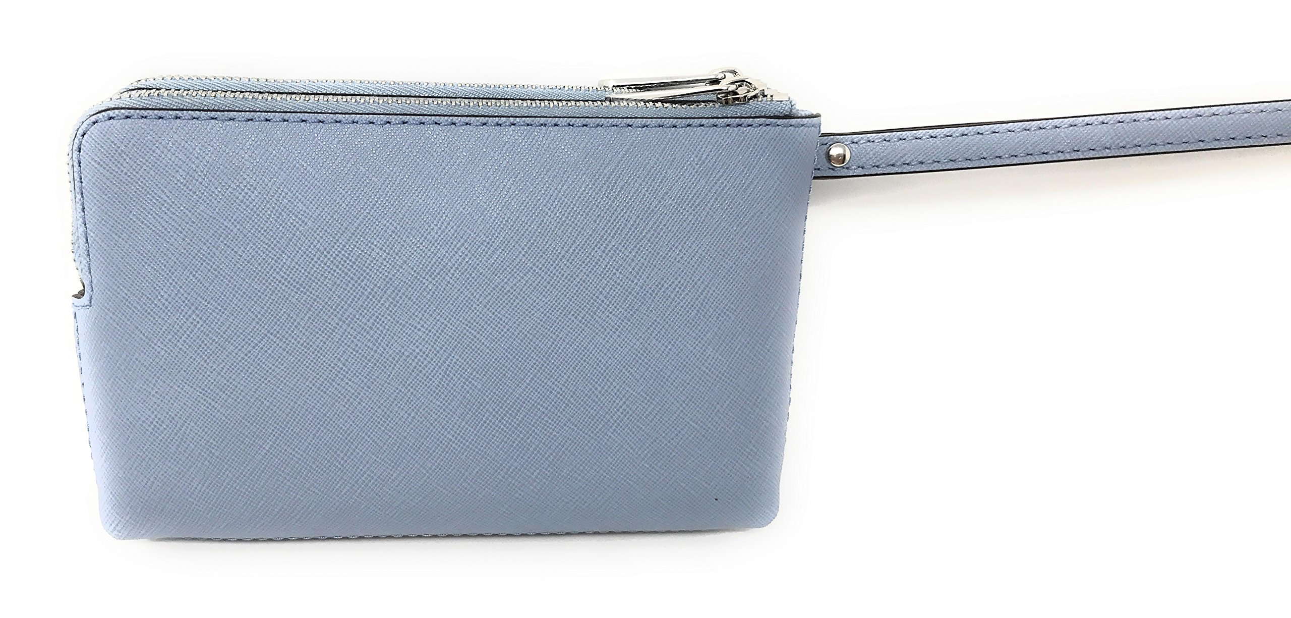 Michael Kors Jet Set Travel Large Double Gusset Wristlet Bag Purse in Pale Blue by Michael Kors (Image #2)