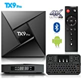 Free Keyboard - Android 7.1 TV Box, BPSMedia TX9 Pro with 3GB DDR3 RAM 32GB ROM Bluetooth Amlogic S912 Octa Core A53 Processor 64 Bits Bluetooth - Real 4K Playing & Updated