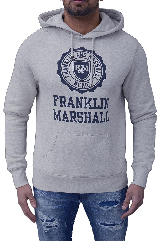 Franklin & Marshall - Sudadera con capucha - para hombre gris Original Grey/Ecru Medium: Amazon.es: Ropa y accesorios
