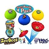 Hog Wild ZeeBeez Jumpers Blue, Green, Red & Yellow Party Set Bundle - 4 Pack (Assorted Designs)