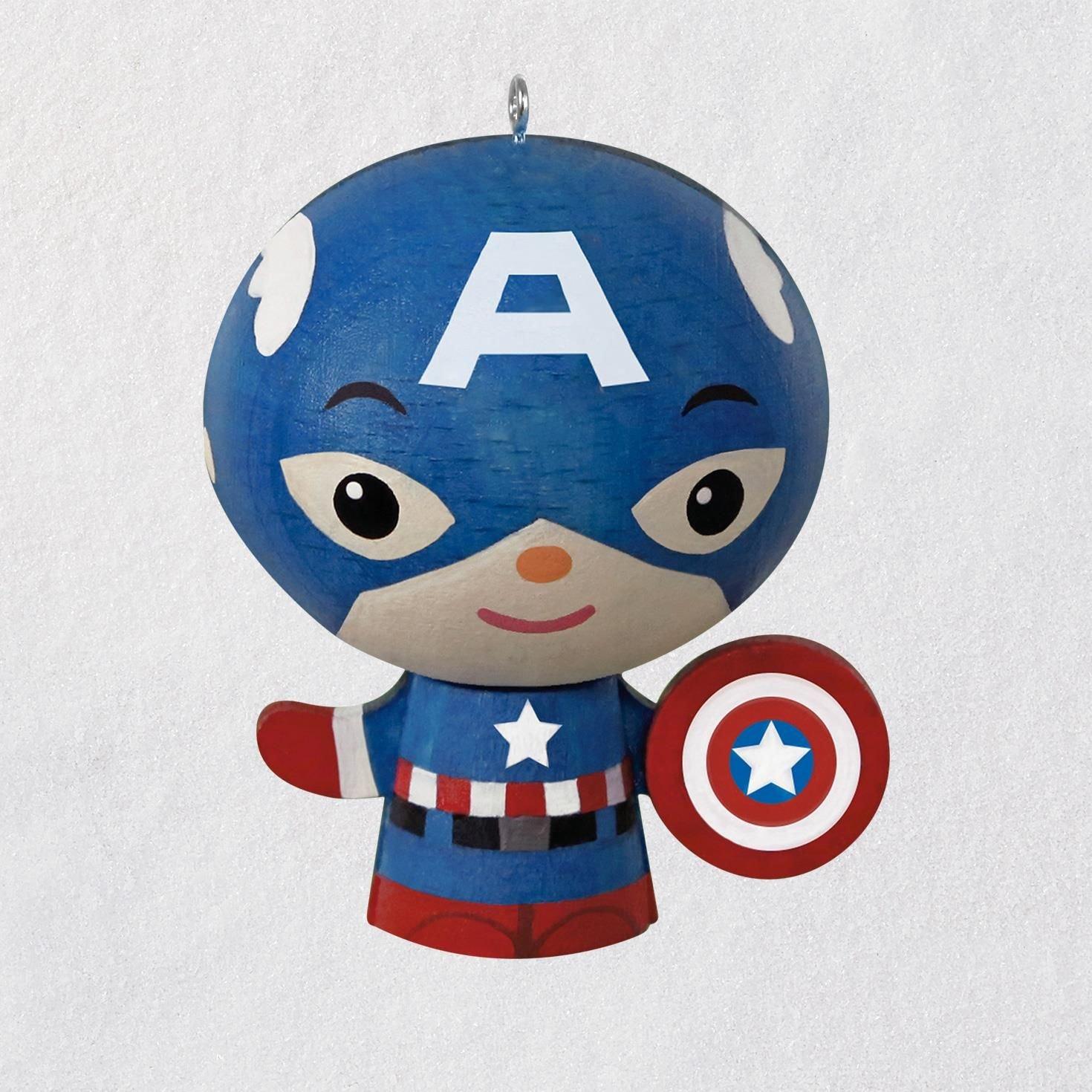 Hallmark Captain America Wood Ornament Keepsake-Ornaments Movies & TV,Superheroes