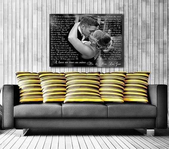 amazon com song lyric art custom wedding canvas print with love