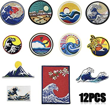 Patches Iron On Sew On Patch Badges Applique For Clothes Art  Stars 21pcs