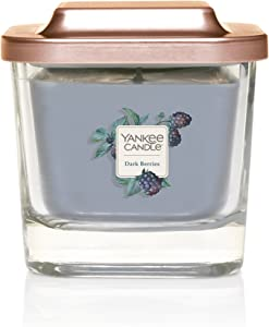 Yankee Candle Company Elevation Collection with Platform Lid, Small 1-Wick Candle, Dark Berries