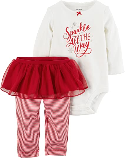 471fecb5e Amazon.com: Carter's Baby Girls' 2 Piece Bodysuit and Tutu Pants Set ...