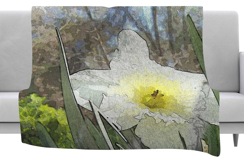Kess InHouse Cyndi Steen Daffodil Multicolor Digital Throw 40 x 30 Fleece Blanket