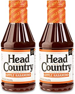 product image for Head Country Bar-B-Q Sauce, Apple Habanero Flavor, 20oz (pack of 2)