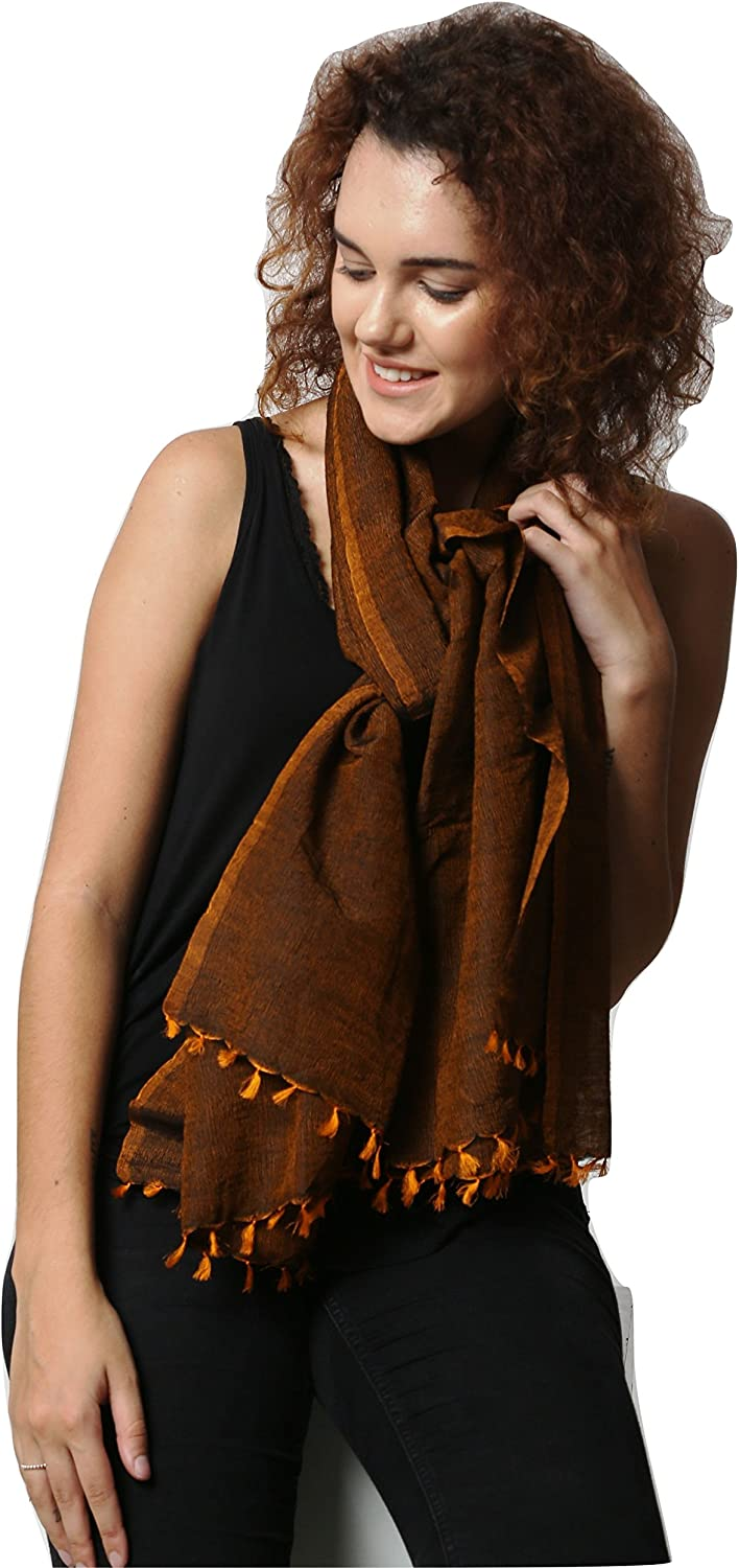 Scarf//stole. 30 X 80 Handcrafted Wool Silk Melange Oversize