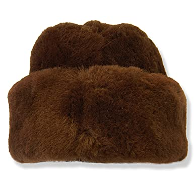 dbcf4a4077b Crown Cap Shearling Envoy Hat at Amazon Men s Clothing store