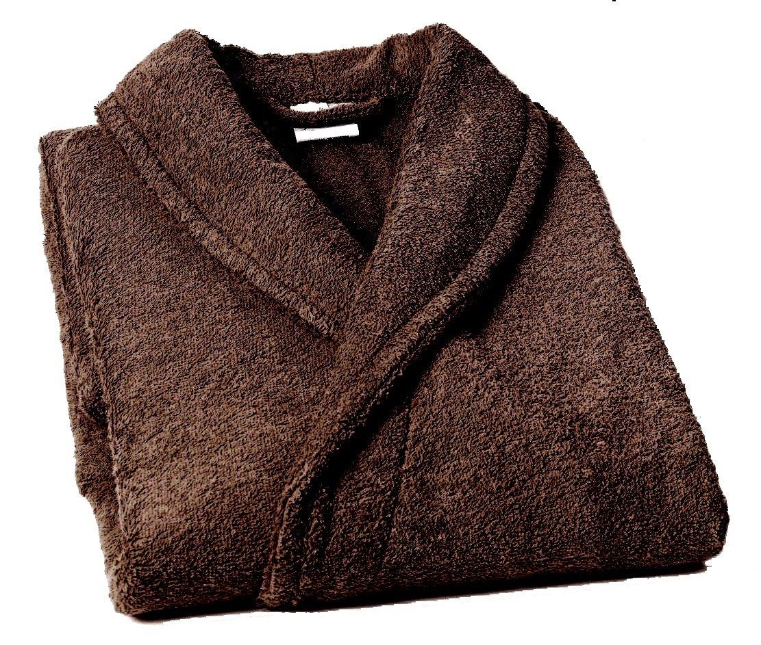 Home Basic - Albornoz con Cuello Tipo Smoking, Talla L, Color marrón product image