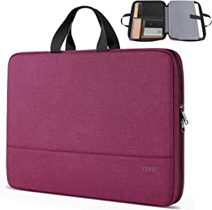 Ytonet 15.6 Inch Laptop Case, TSA Friendly Laptop Sleeve for Women Men Lightweight Slim Computer Carrying Case Compatible for HP Dell Lenovo Asus Mac Laptops,Computer Protective Case, Purple Red