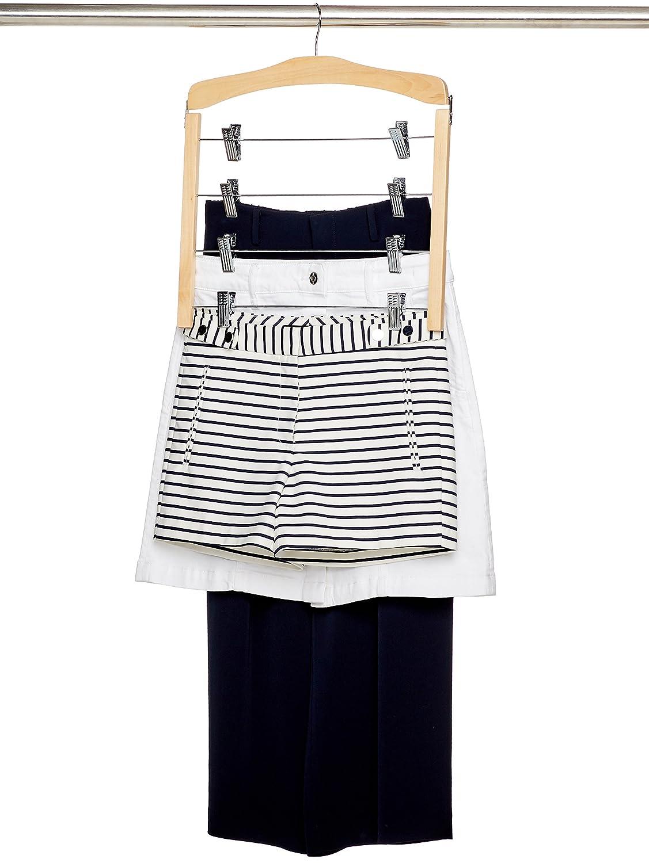 AmazonBasics - Kleiderbügel für mehrere Röcke B004BL1XVE/B0039NL95U
