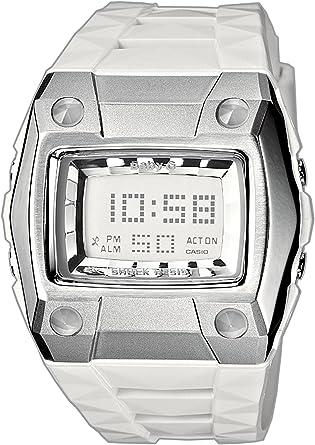 Casio BG-2101-7ER - Reloj digital de mujer de cuarzo con correa de resina blanca (cronómetro, alarma, luz) - sumergible a 100 metros: Amazon.es: Relojes