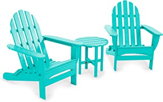 product image for POLYWOOD PWS214-1-AR Classic Folding 3-Piece Adirondack Seating Set, Aruba