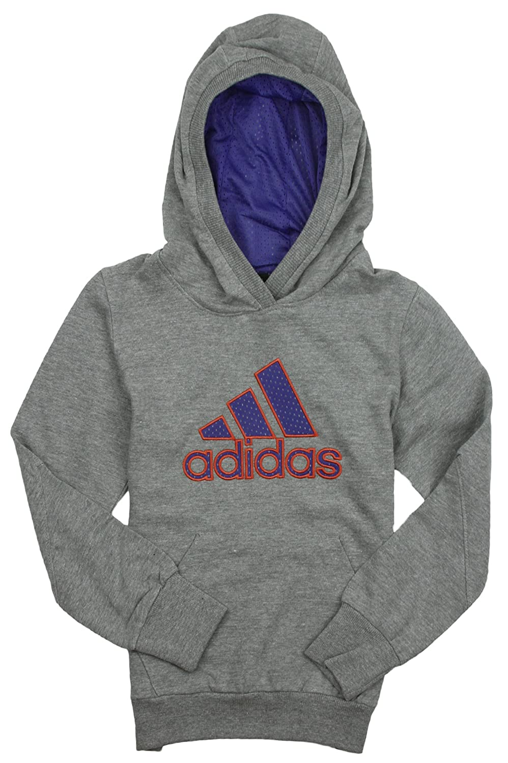 adidas Big Girls Yoga Dance Hoodie Medium Grey/Purple) 87OF8