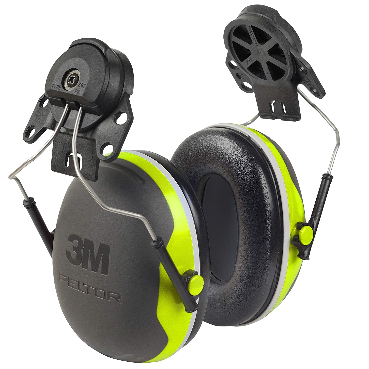 3M Peltor Ear Muffs, Noise Protection, Hard Hat Attachment, NRR 25 dB, Construction, Manufacturing, Maintenance, Automotive, Woodworking, Heavy Engineering, Mining, X4P3E