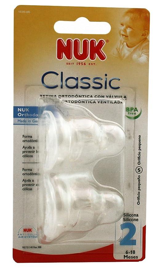 ROCHE D Nuk Tetina T2 Silicona - Chupete- mordedor: Amazon ...