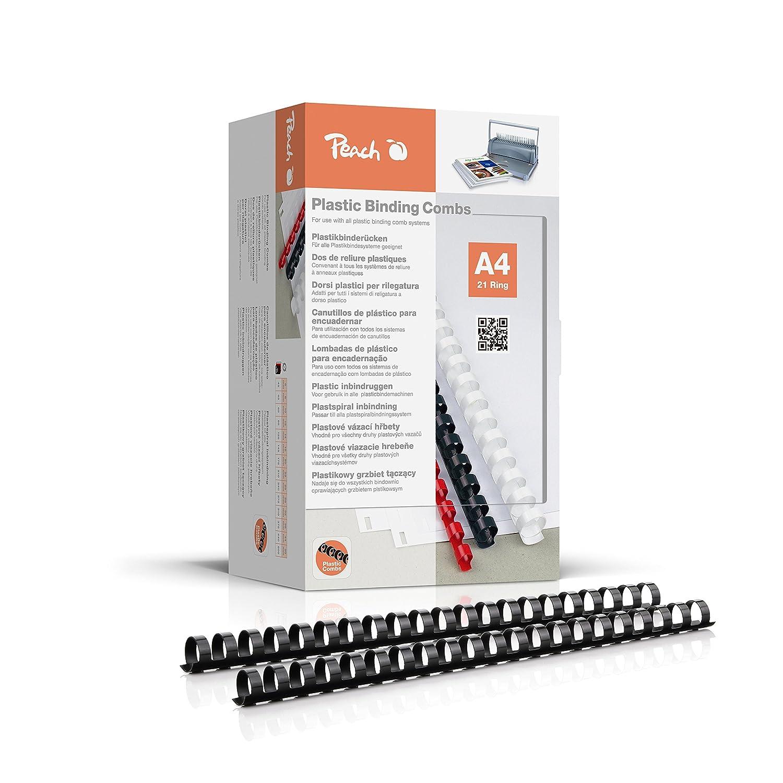 Peach PB420-02 Binderücken 20 mm, A4, 100 Stück, schwarz 100 Stück 3T Supplies AG