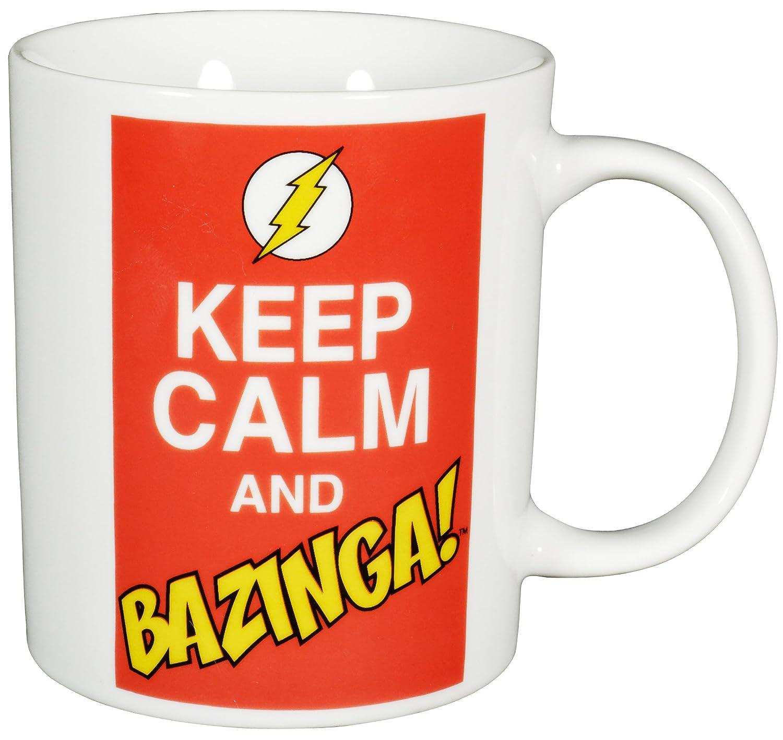 Kaffeetasse /'Keep Calm and Bazinga/' 320 ml Neu The Big Bang Theory