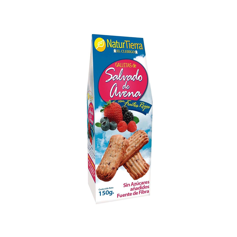 Naturtierra - Galletas de avena con frutos rojos - 150 g ...
