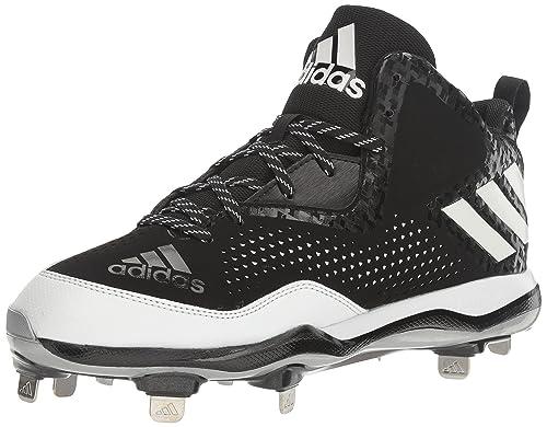 buy online 63b3c 6abc0 adidas Men s Freak X Carbon Mid Baseball Shoe Black White Metallic Silver (