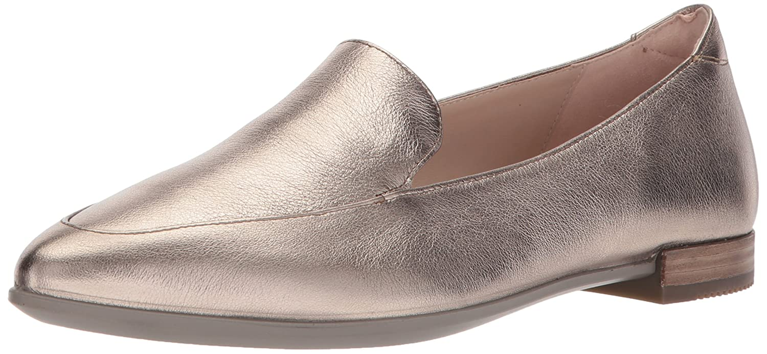 ECCO Women's Women's Shape Pointy Ballerina Ii Pointed Toe Flat B0713QFCLS 35 EU/4-4.5 M US|Warm Grey