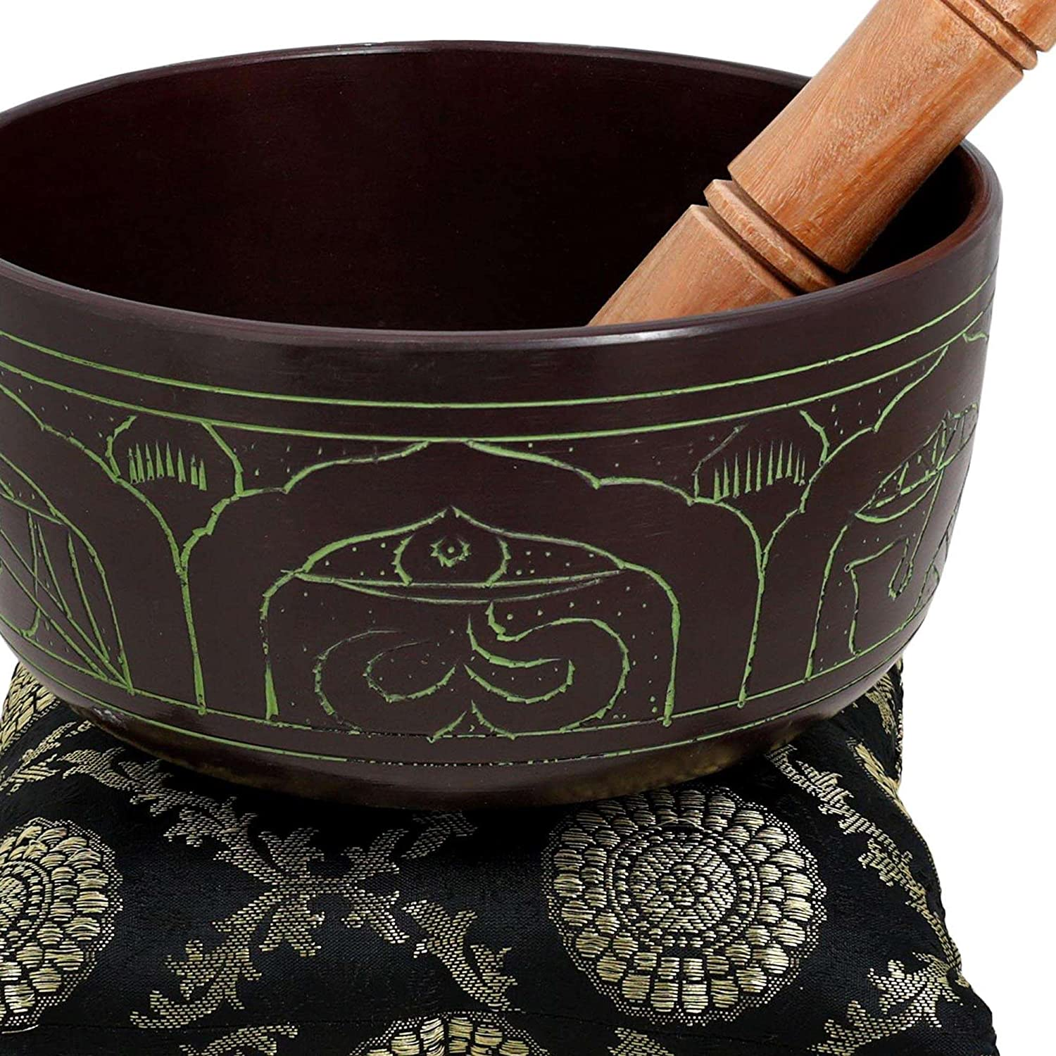 Metal Art India Tibetan Singing Bowl Instruments for Meditation Touch Bell 7 inches