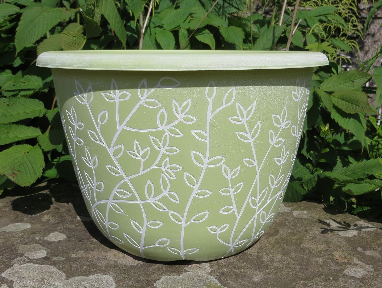 Plant Pots Planters Chengdu Patio Pot Plastic Round Planter Pot Outdoor 30cm (1x Serenity Planters Bowl) Anglo Eastern