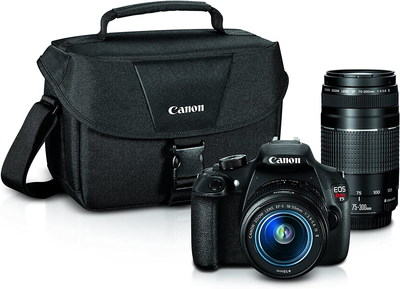 Canon Eos Rebel T5 Digital Slr Camera With Ef S 18 55mm Is Ii Ef 75 300mm F 4 5 6 Iii Bundle