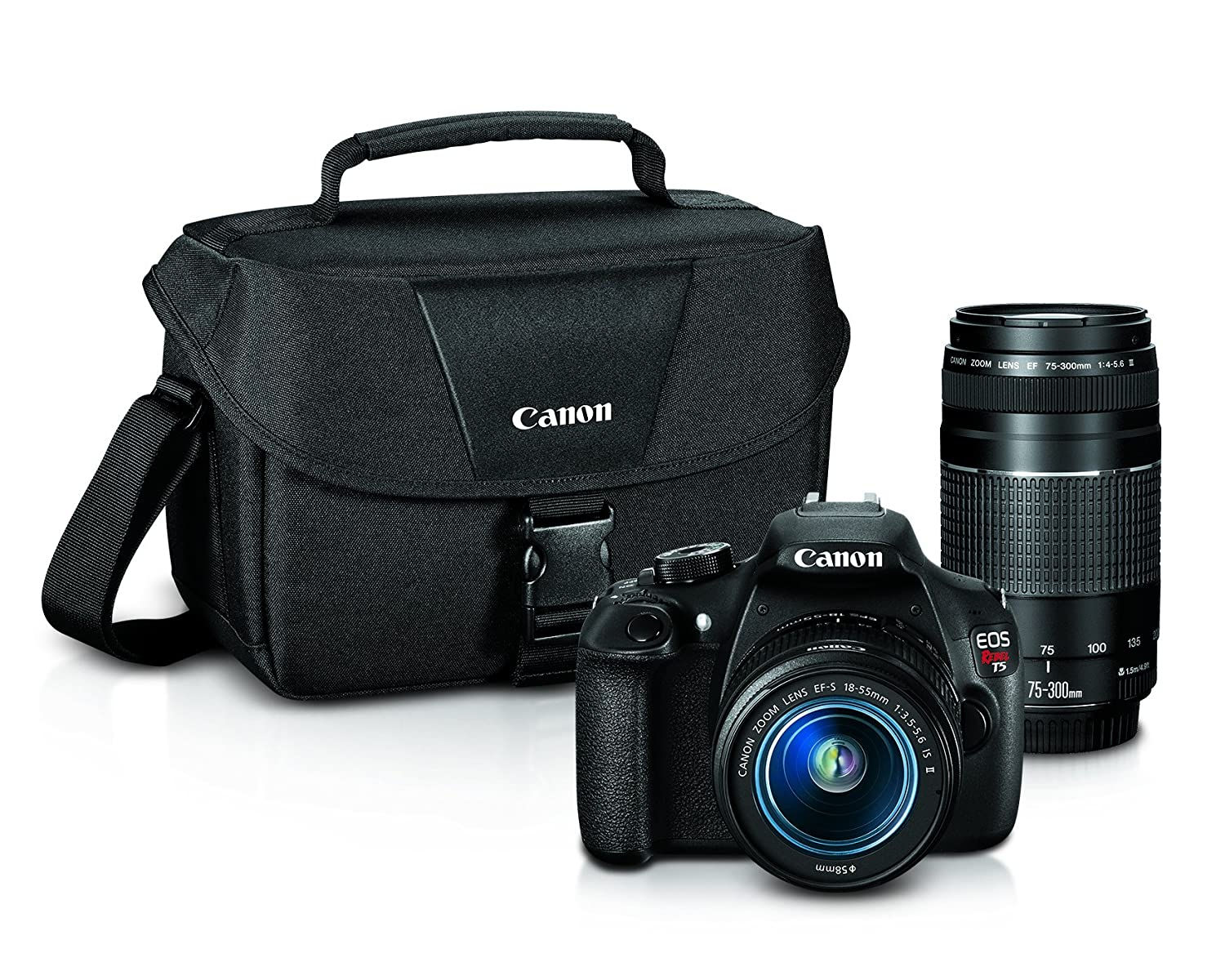 Camera Best Deals On Dslr Cameras In Usa amazon com canon eos rebel t5 digital slr camera with ef s 18 55mm is ii 75 300mm f4 5 6 iii bundle photo