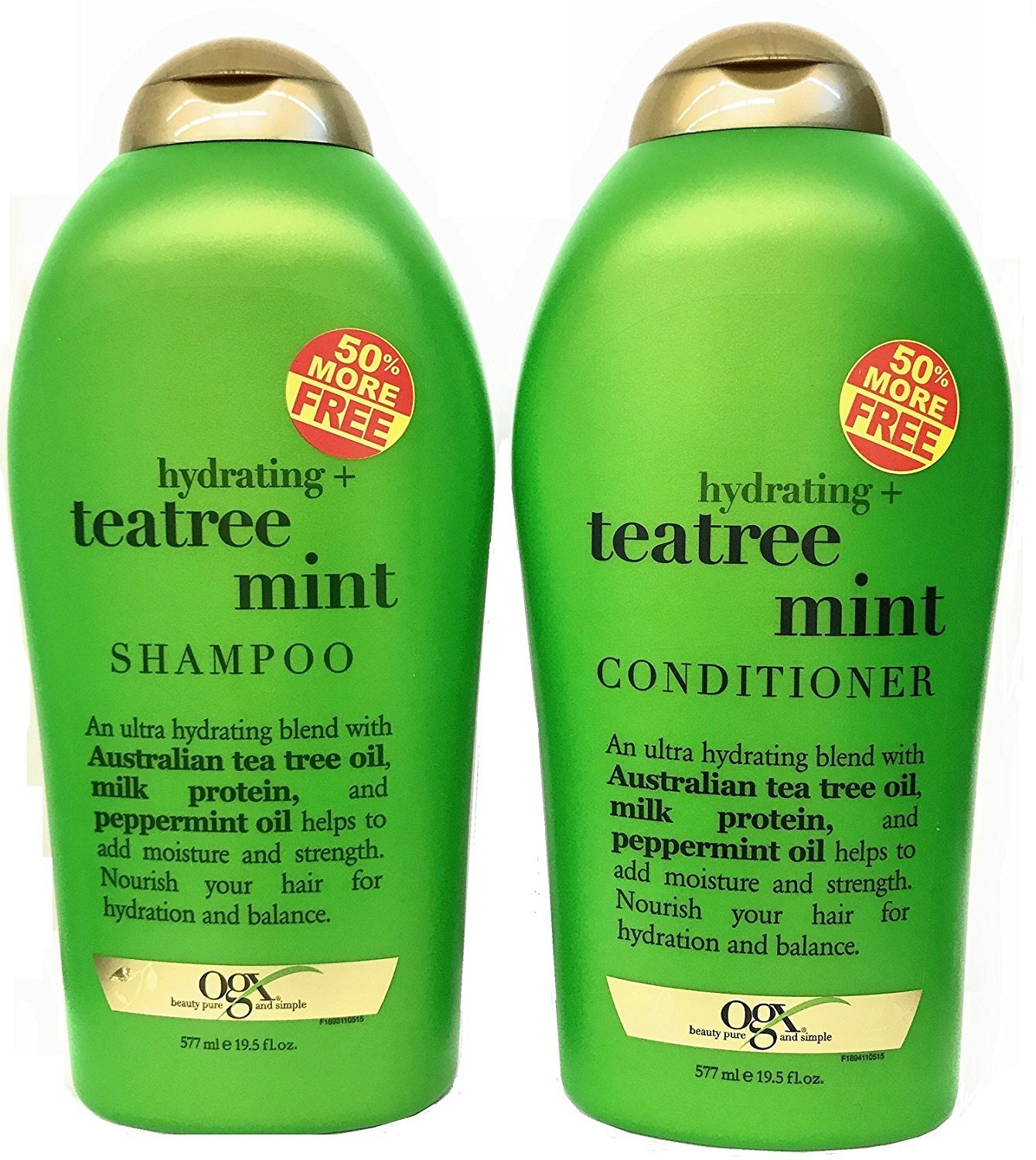 OGX Organix Tea Tree Mint Shampoo 19.5 oz + Conditioner 19.5 oz DuoSet by organix