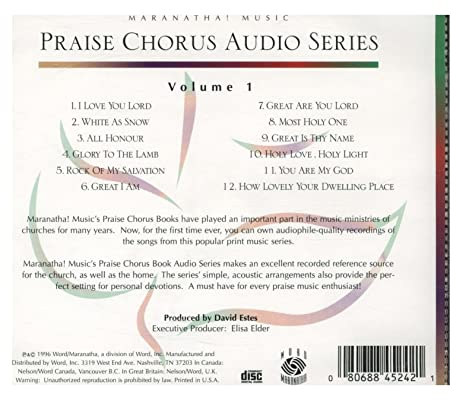 Maranatha! Music Praise Chorus - Praise, Vol  1 - Amazon com Music