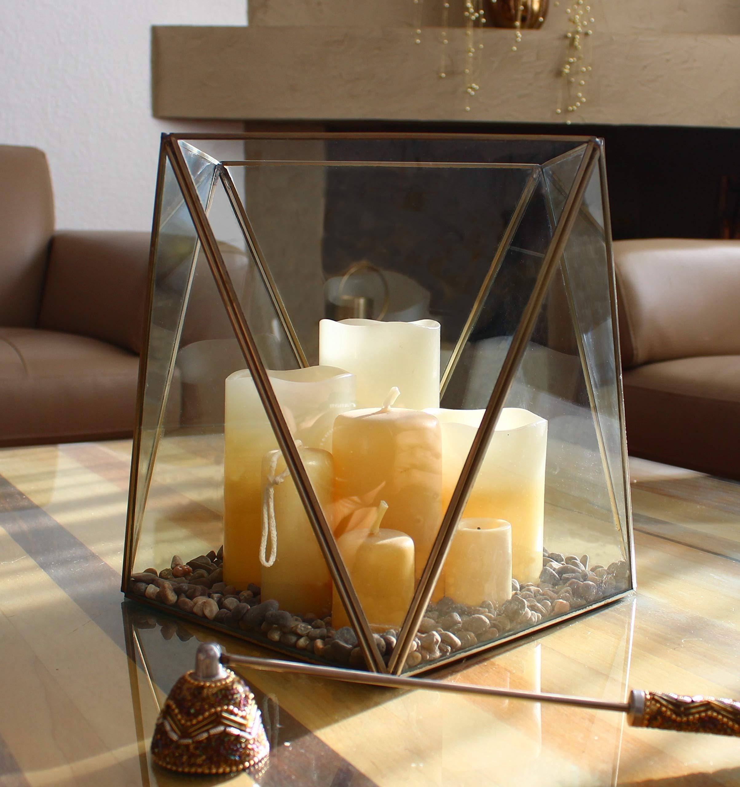 Stained Glass Terrarium Cube Geometric Terrarium Cactus Terrarium