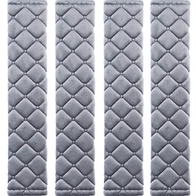 MIKAFEN 4 Pack Universal Car Seat Belt Pads, Adult Seat Belt Shoulder Strap Covers Harness Pad for Car/Bag,Soft Comfort Helps Protect You Neck Shoulder from The Seat Belt Rubbing(Gray): Automotive [5Bkhe1516171]