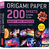 """Origami Paper 200 sheets Milky Way Photos 6"""" (15 cm): Tuttle Origami Paper: High-Quality Double Sided Origami Sheets…"""