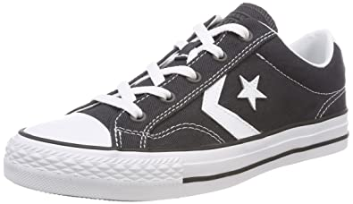 9ff14119504487 Converse Unisex Adults  Star Player OX Almost White Black Trainers