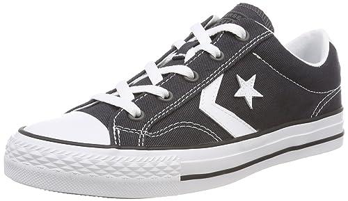 Converse Star Player Ox, Sneaker Unisex-Adulto, Nero (Almost Black/White/Black 049), 37.5 EU